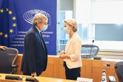 Participation d'Ursula von der Leyen, présidente de la Commission européenne, à la conférence des présidents du Parlement européen